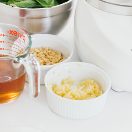 Quick and easy pesto ingredients