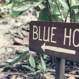 Blue Hole sign in Belize