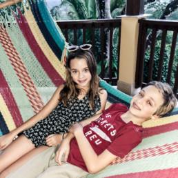 Kids in hammock in Belize