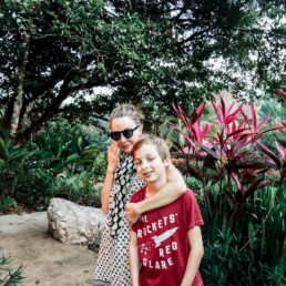 Lisa Breckenridge and family in Belize