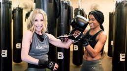 Lisa Breckenridge with BoxUnion trainer