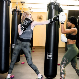 Lisa Breckenridge boxing and working out