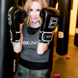 Lisa Breckenridge with boxunion boxing gloves