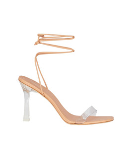 Larroude | Gloria Leather Wrap Sandals