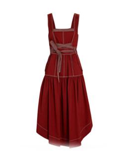 Ulla Johnson | Howell Lace-Front Midi Dress